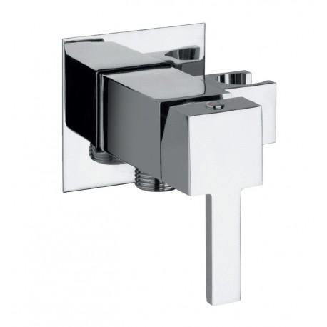 Mitigeur mécanique square à encastrer avec support douchette intégré de Paini Robinetterie.