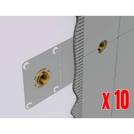 Pack de 10 Sorties de cloison Douche / Baignoire Multicouche HENCO à sertir Ø16 x Femelle 1/2 (15/21)