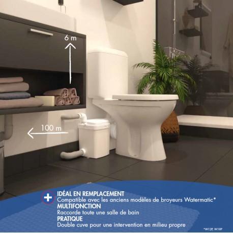 Broyeur WC Adaptable - W12P PRO - Watermatic