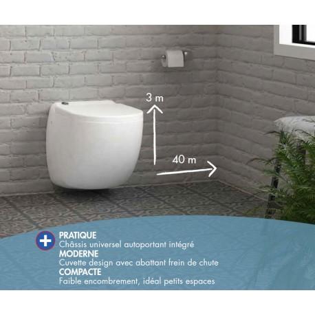 W40SP Watermatic - Cuvette WC Suspendue avec Broyeur Intégré