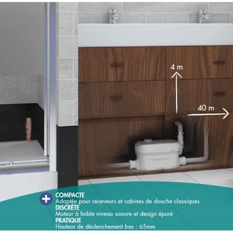 Pompe de Relevage VD80 Watermatic Pour Douche et Cabine de Douche