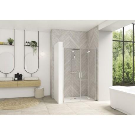 Smart Design S XXL Sans Seuil Kinedo - Porte de Douche Pliante