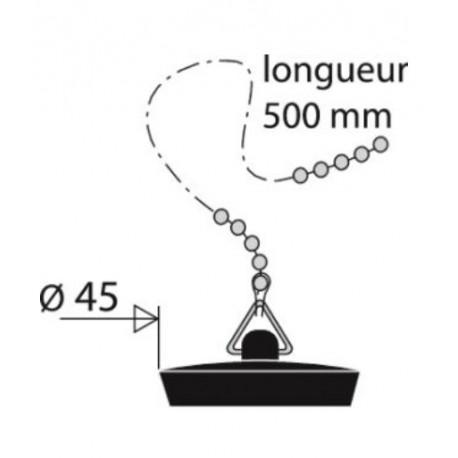 1 Bouchon D50+Chainette Bain Valentin
