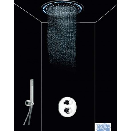 Ensemble de douche Rain Light Techno Cromo Païni