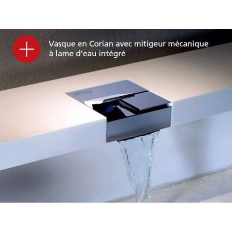 Vasque avec Mitigeur Mécanique à Lame d'Eau Intégré Païni
