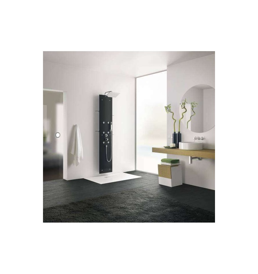 colonne de douche hydromassante aquaglass kinedo prix canon. Black Bedroom Furniture Sets. Home Design Ideas