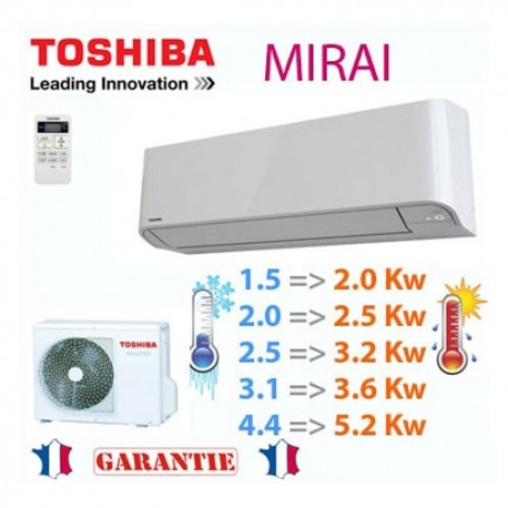 Toshiba Climatiseur Mirai R410