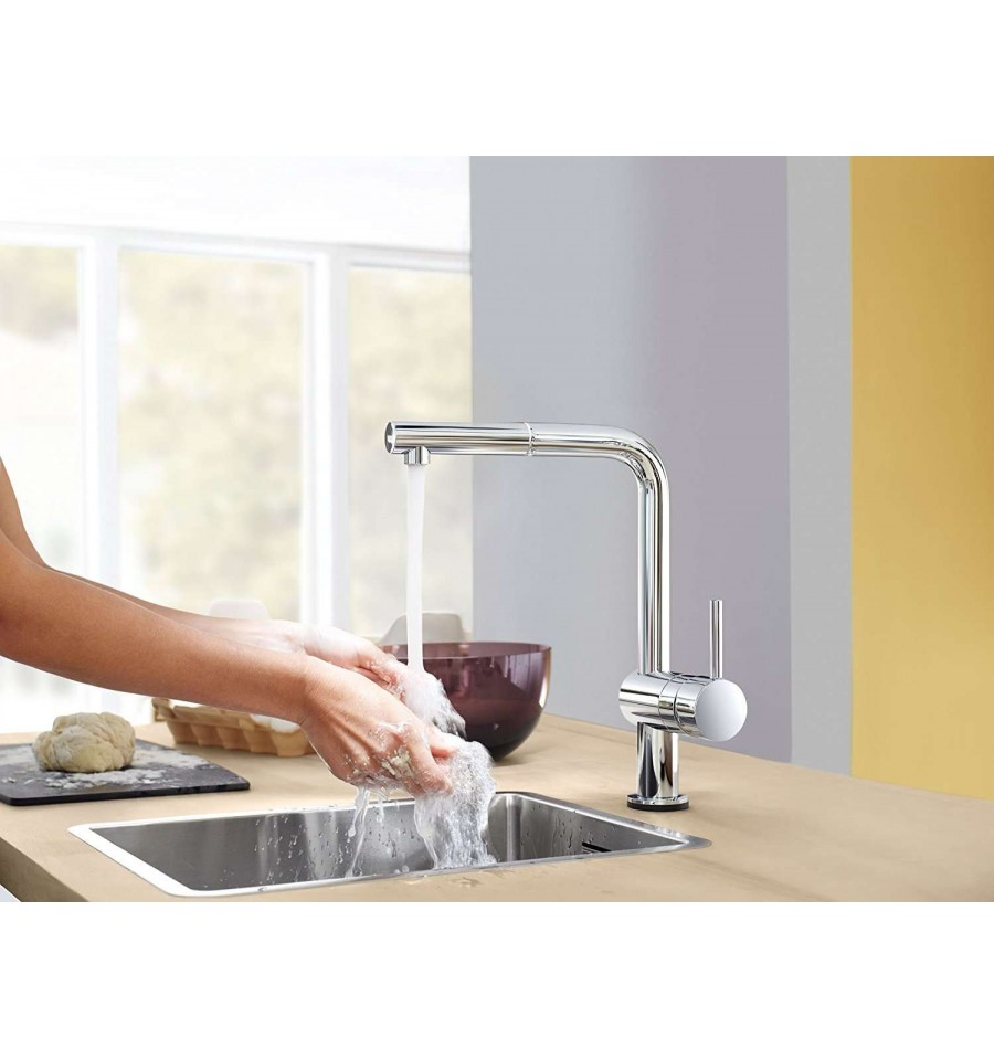 Mitigeur vier grohe minta touch bec en l prix canon for Grohe evier cuisine