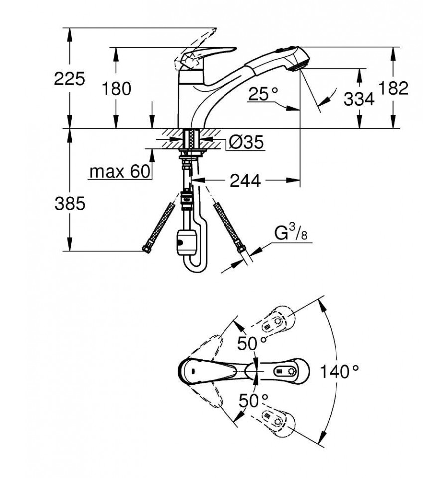 mitigeur vier grohe eurodisc 32546001 prix pas cher. Black Bedroom Furniture Sets. Home Design Ideas