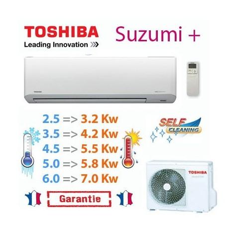 climatiseur mural monosplit r versible toshiba suzumi plus pas cher. Black Bedroom Furniture Sets. Home Design Ideas