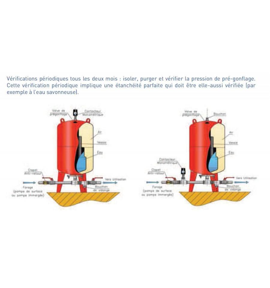 R servoir vessie massal vertical 300 litres 10 bars - Reservoir a vessie ...
