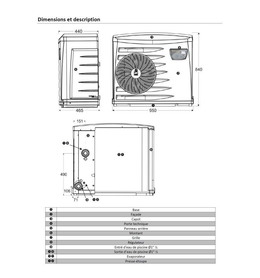 la pompe chaleur piscine pm3041 de zodiac prix mini. Black Bedroom Furniture Sets. Home Design Ideas