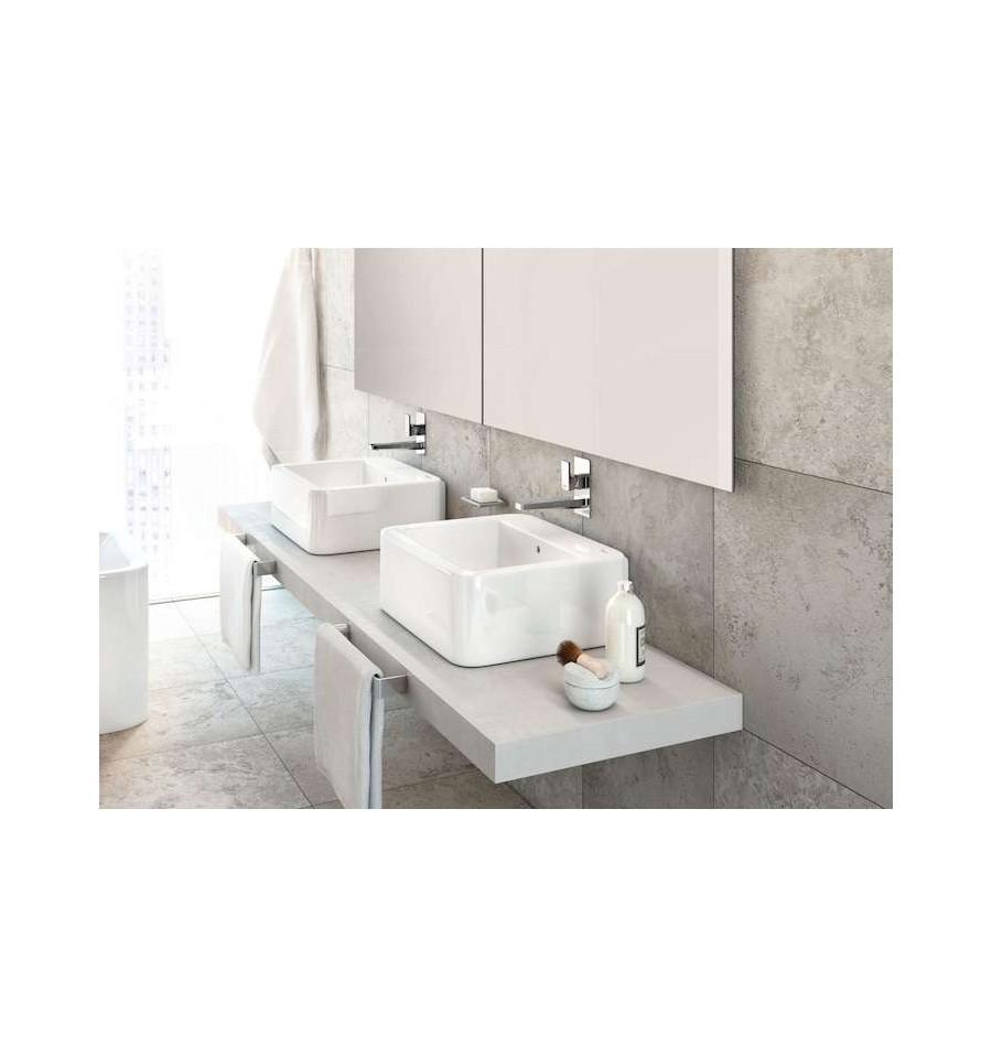 lavabo pr perc mural ou poser sur plan element de roca. Black Bedroom Furniture Sets. Home Design Ideas