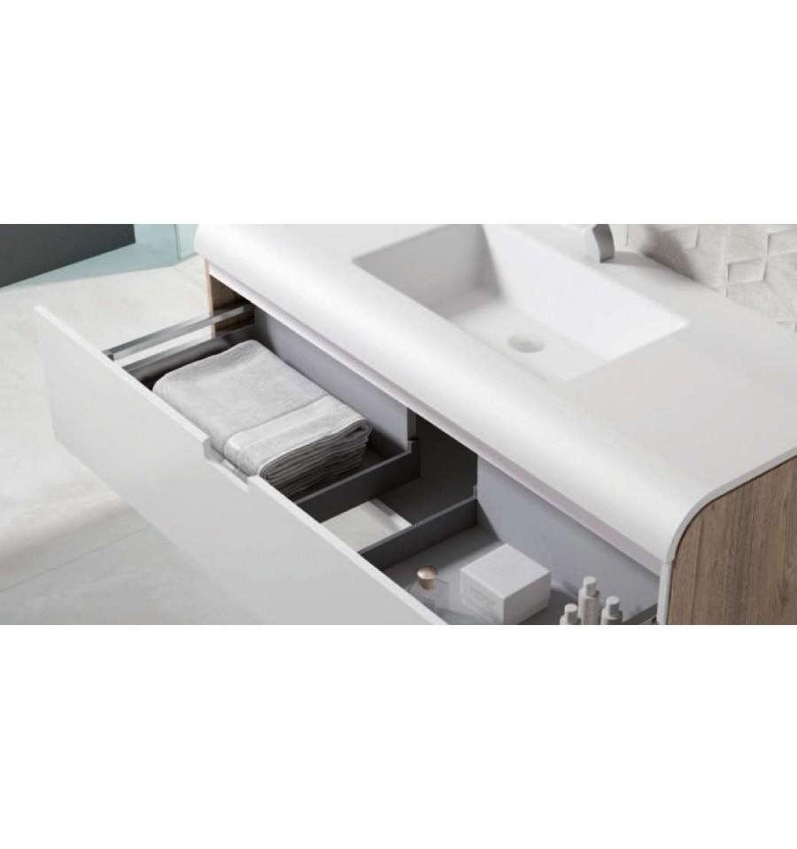 Pack austral 1000 meuble 1 tiroir vasque o 39 design for Mini meuble tiroir