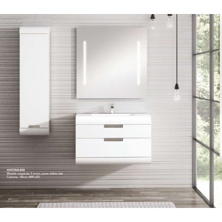 Pack Austral 800 (Meuble 1 tiroir + Vasque) O'design par Ottofond