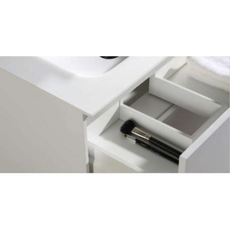Pack Anabel 900 (Meuble 2 tiroirs + Vasque Simple + Miroir) O'design par Ottofond
