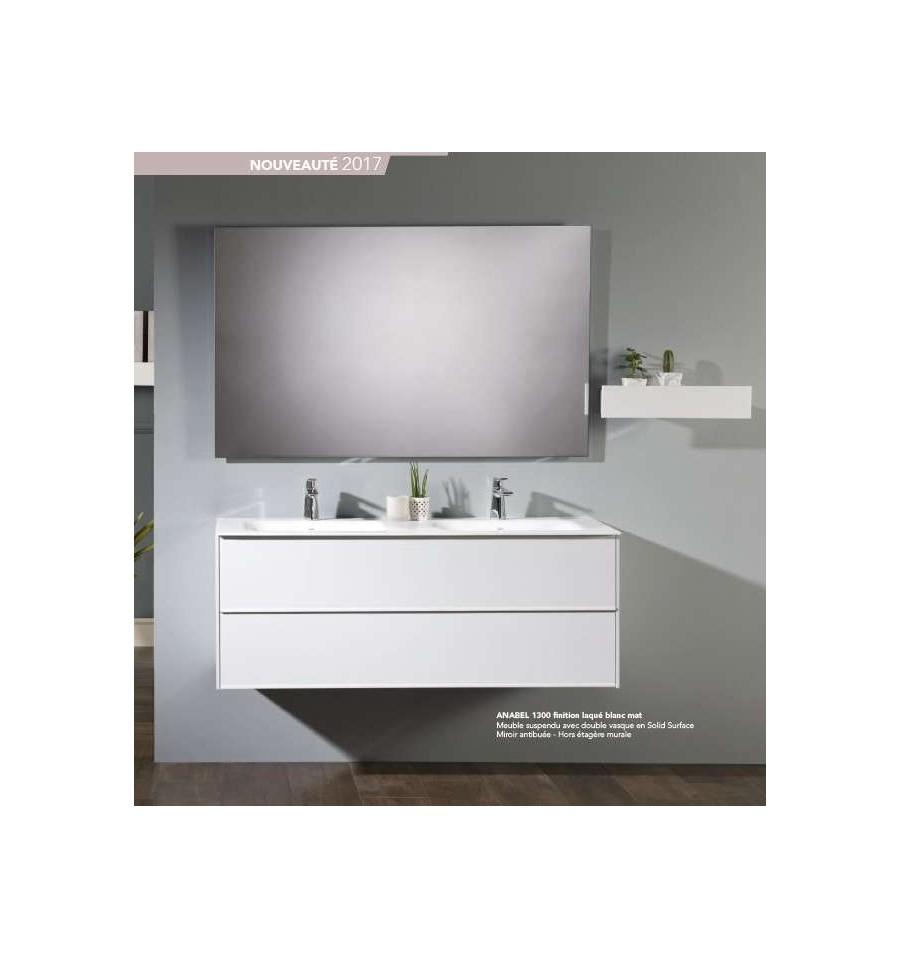 Salle De Bain Ottofond ~ pack anabel 1300 meuble 2 tiroirs vasque double miroir o