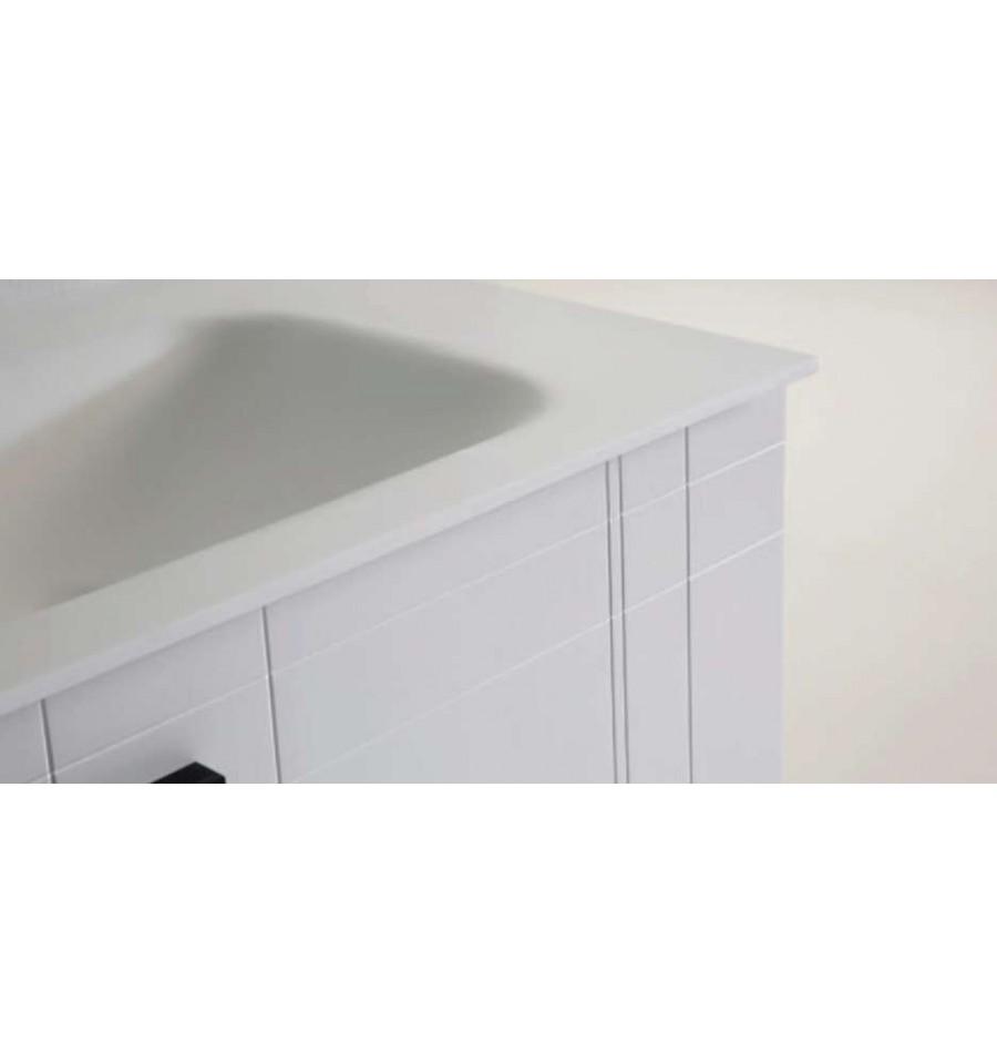 Pack alina 1100 meuble 2 tiroirs vasque simple miroir o 39 design ottofond prix mini for Meuble design miroir