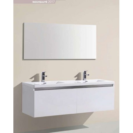 Pack Alba 1200 (Meuble 2 tiroirs + Vasque Simple + Miroir) O'design par Ottofond