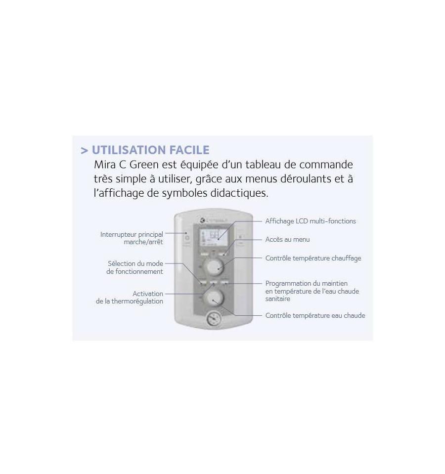 chaudi re gaz condensation mira c green 35 ff chaffoteaux prix mini. Black Bedroom Furniture Sets. Home Design Ideas