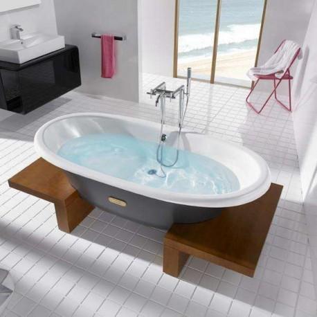baignoire en fonte newcast woodline de roca prix fondu. Black Bedroom Furniture Sets. Home Design Ideas