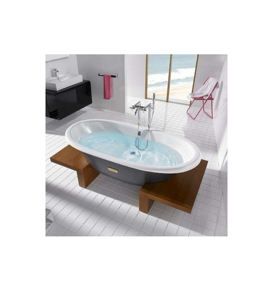 baignoire en fonte newcast woodline de roca prix fondu. Black Bedroom Furniture Sets. Home Design Ideas