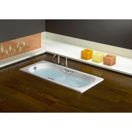baignoire en fonte malibu de roca avec poign es pieds pas cher. Black Bedroom Furniture Sets. Home Design Ideas