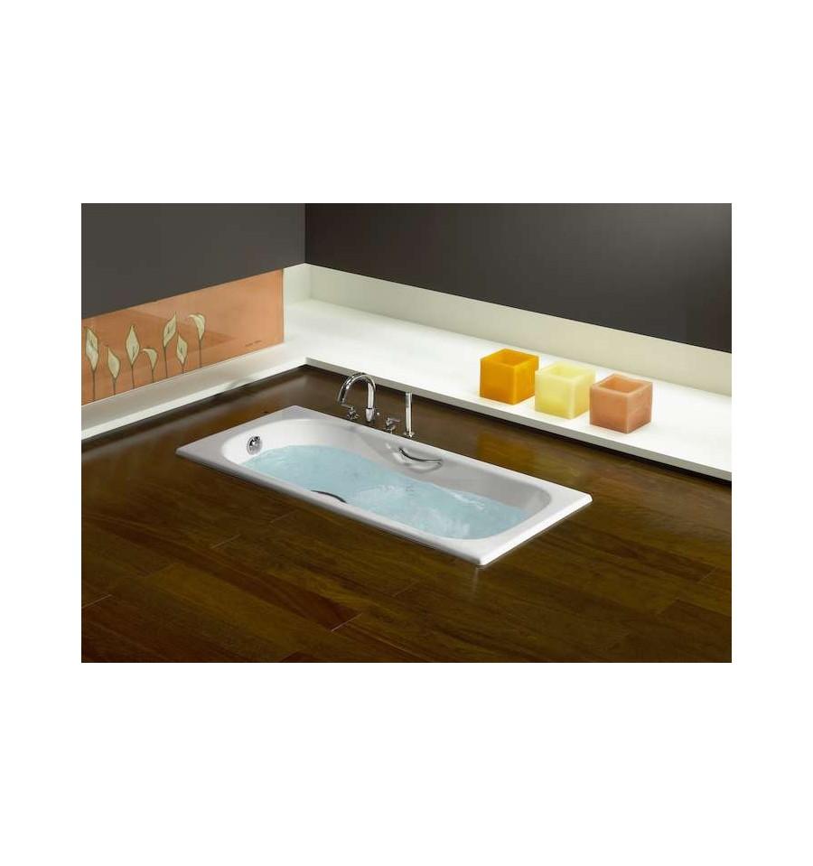 baignoire en fonte malibu de roca avec poign es pas cher. Black Bedroom Furniture Sets. Home Design Ideas
