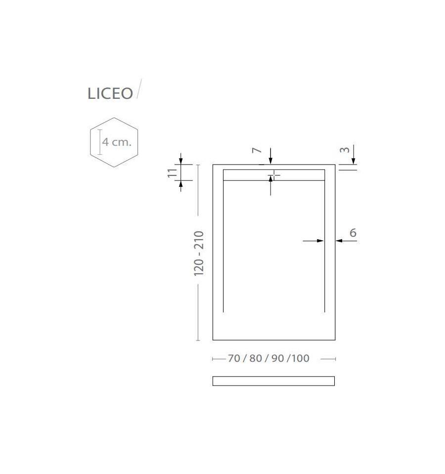 receveur douche sur mesure large 80 cm liceo vulcano mcbath prix pas cher. Black Bedroom Furniture Sets. Home Design Ideas