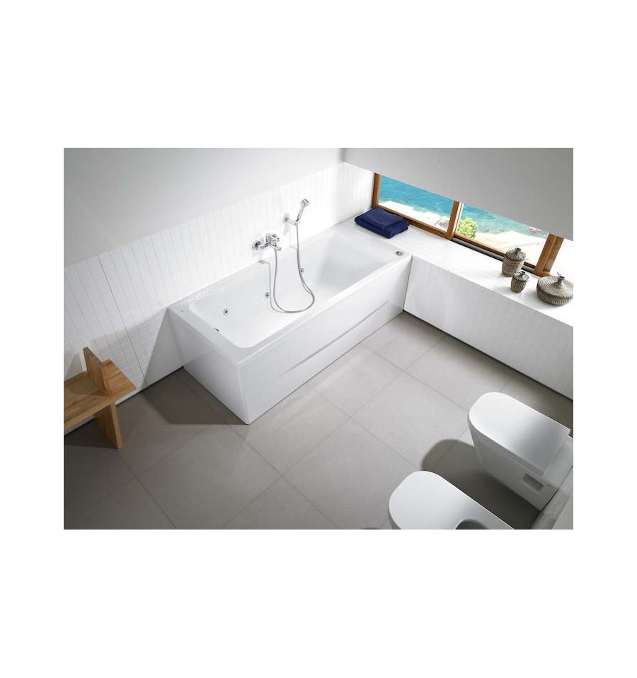 baignoire easy rectangulaire baln o tonic par roca prix pas cher. Black Bedroom Furniture Sets. Home Design Ideas