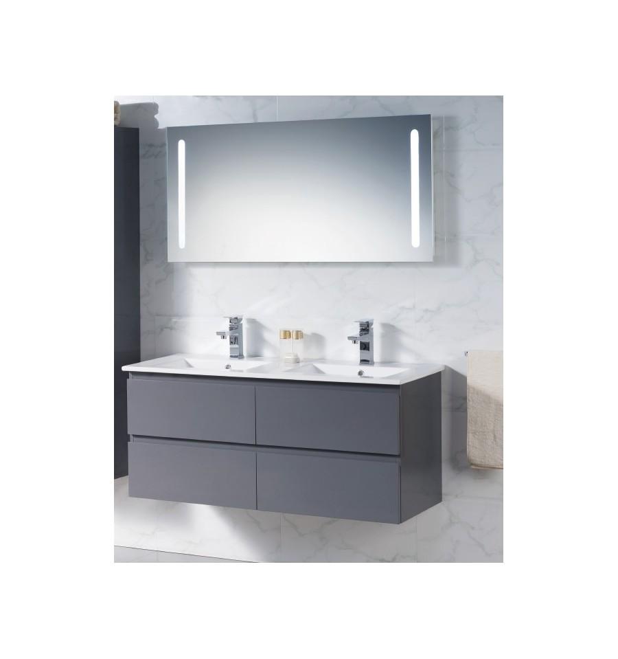 Meuble double vasque suspendu cuisine meuble sous vasque for Meuble double vasque salle de bain suspendu