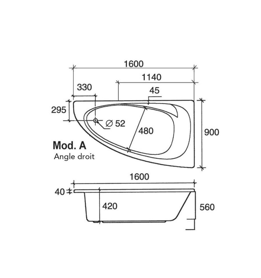 baignoire d angle dimensions baignoire d angle dimensions. Black Bedroom Furniture Sets. Home Design Ideas