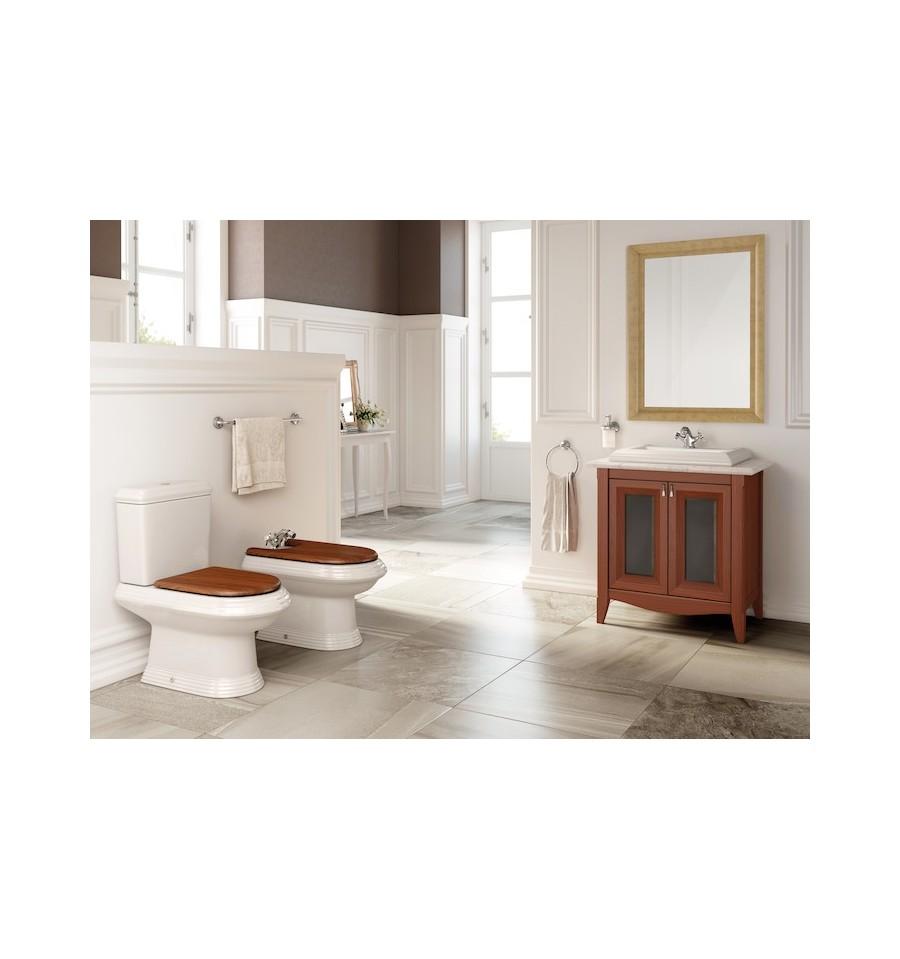 Pack america de roca meuble vasque sur plan marbre for Meuble vasque roca