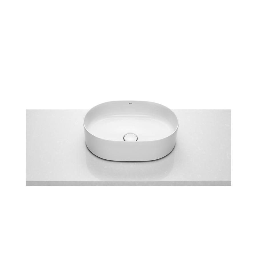 Vasque poser rectangulaire inspira round de roca prix for Inspira de roca