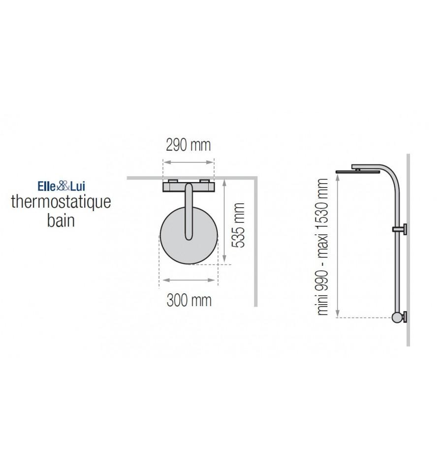 Combin bain douche thermostatique elle lui opium 300 de - Combine baignoire douche pas cher ...