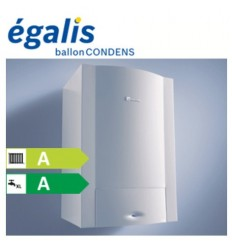 Chaudière Egalis Ballon Condens ELM Leblanc (Gaz Naturel) - Complète avec dosseret, ventouse