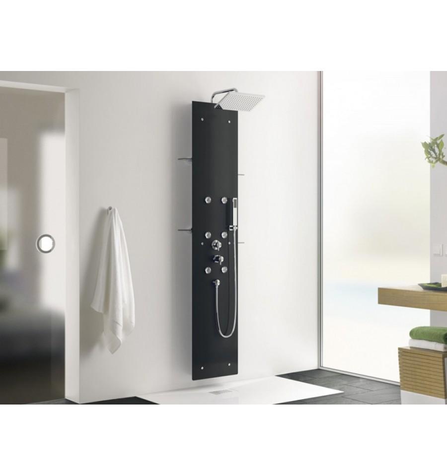 Colonne de douche hydromassante aquaglass kinedo prix canon - Colonne de douche noire ...