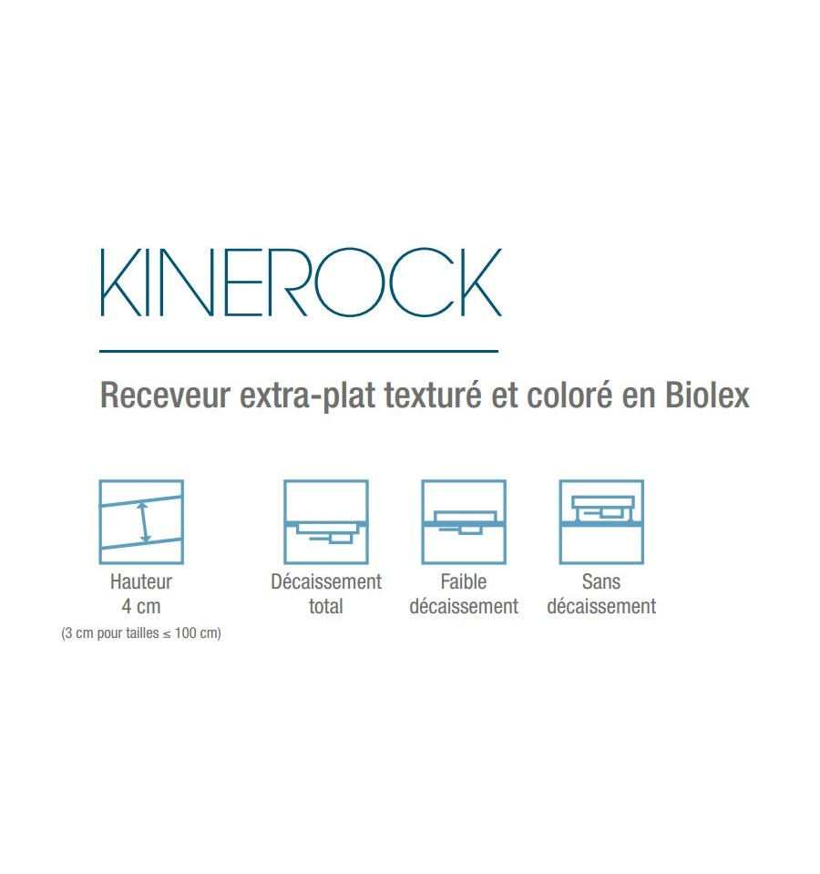 receveur douche kinerock 140x90 par kinedo prix pas cher. Black Bedroom Furniture Sets. Home Design Ideas