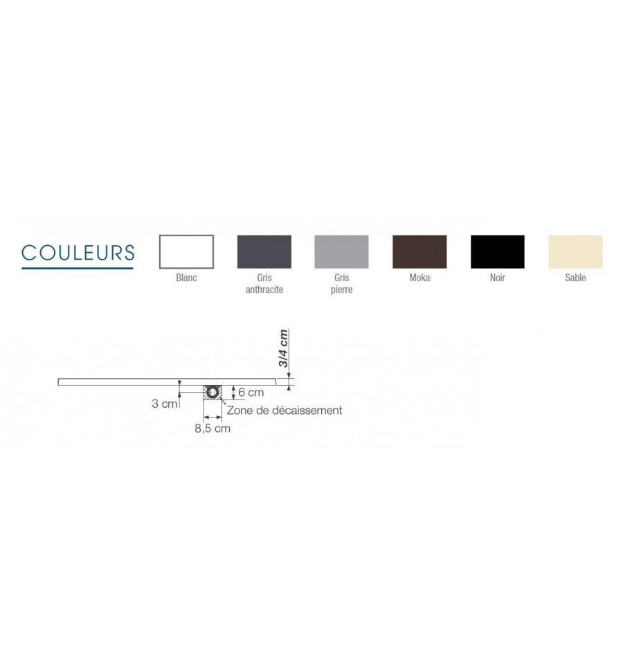 receveur douche kinerock 140x90 par kinedo prix pas cher. Black Bedroom Furniture Sets. Home Design Ideas