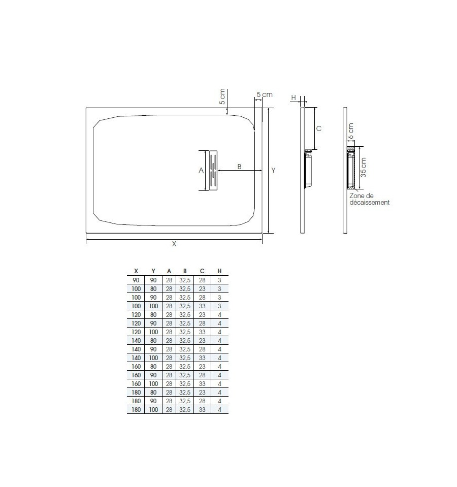 Receveur douche kinerock 140x100 par kinedo prix pas cher - Receveur douche pas cher ...