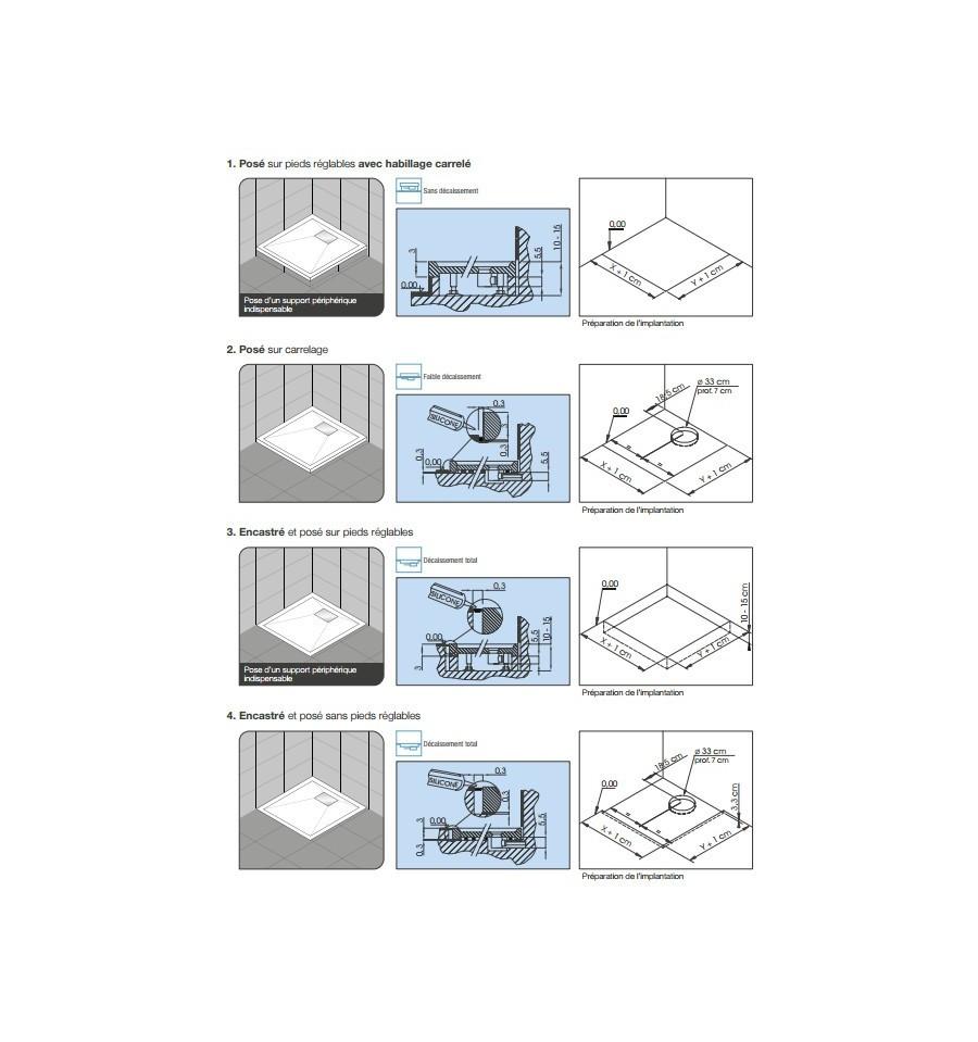 receveur douche kinesurf 80x80 extraplat par kinedo prix pas cher. Black Bedroom Furniture Sets. Home Design Ideas