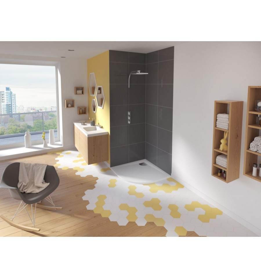 receveur douche kinesurf 100x100 extraplat en 1 4 de rond par kinedo prix pas cher. Black Bedroom Furniture Sets. Home Design Ideas