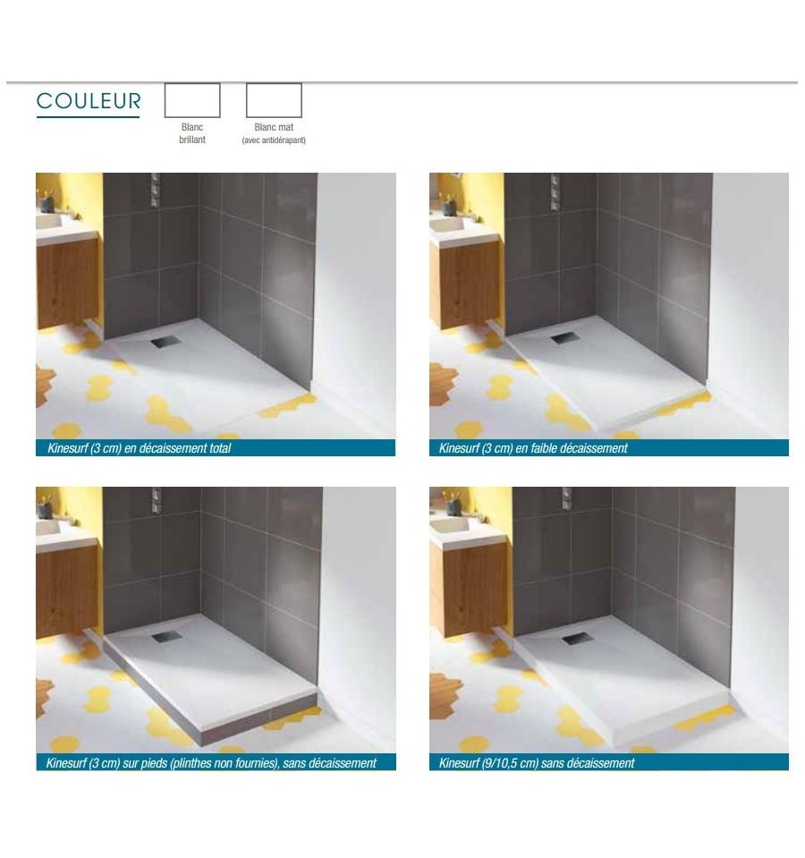 receveur douche kinesurf 100x100 par kinedo prix pas cher. Black Bedroom Furniture Sets. Home Design Ideas