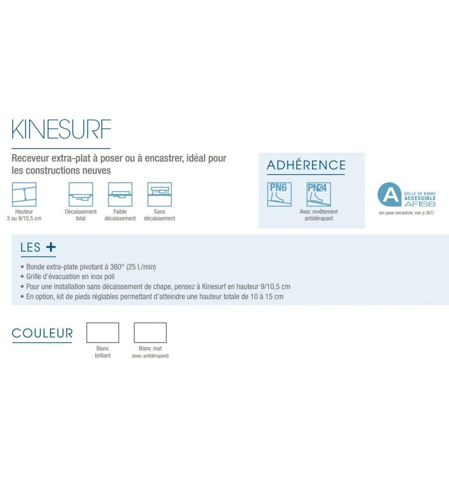 Receveur douche kinesurf 160x90 extraplat par kinedo prix pas cher - Receveur a carreler 160x90 ...