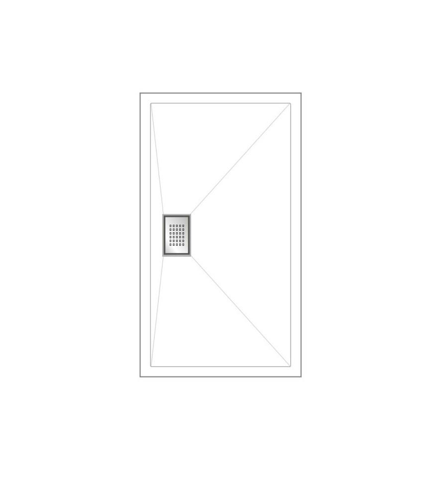 receveur douche kinesurf 120x70 par kinedo prix pas cher. Black Bedroom Furniture Sets. Home Design Ideas