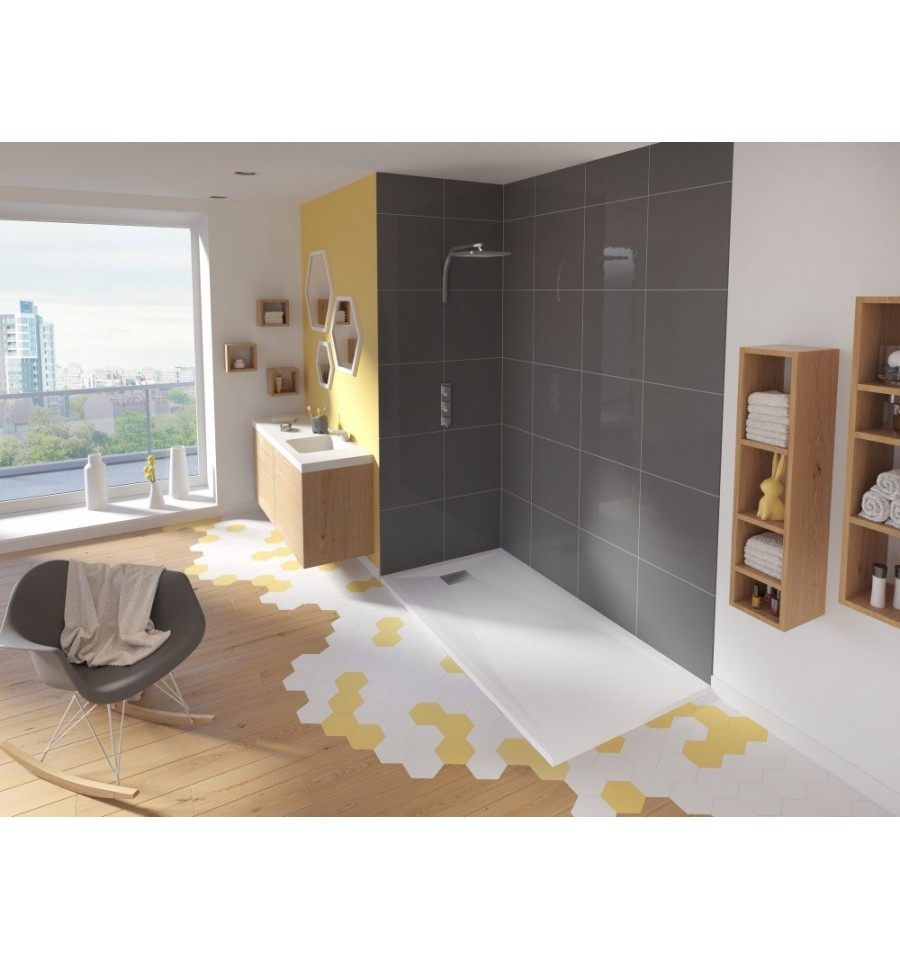 receveur douche kinesurf 120x80 extraplat par kinedo. Black Bedroom Furniture Sets. Home Design Ideas