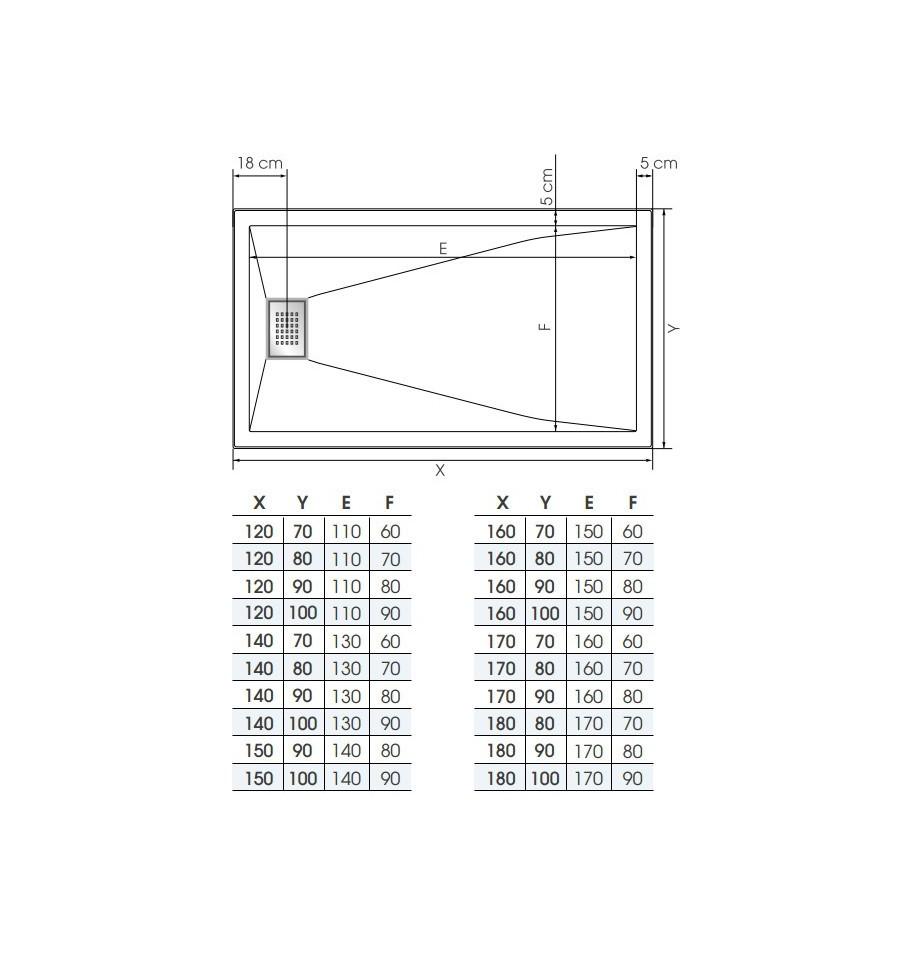 receveur douche kinesurf 140x80 extraplat par kinedo prix pas cher. Black Bedroom Furniture Sets. Home Design Ideas