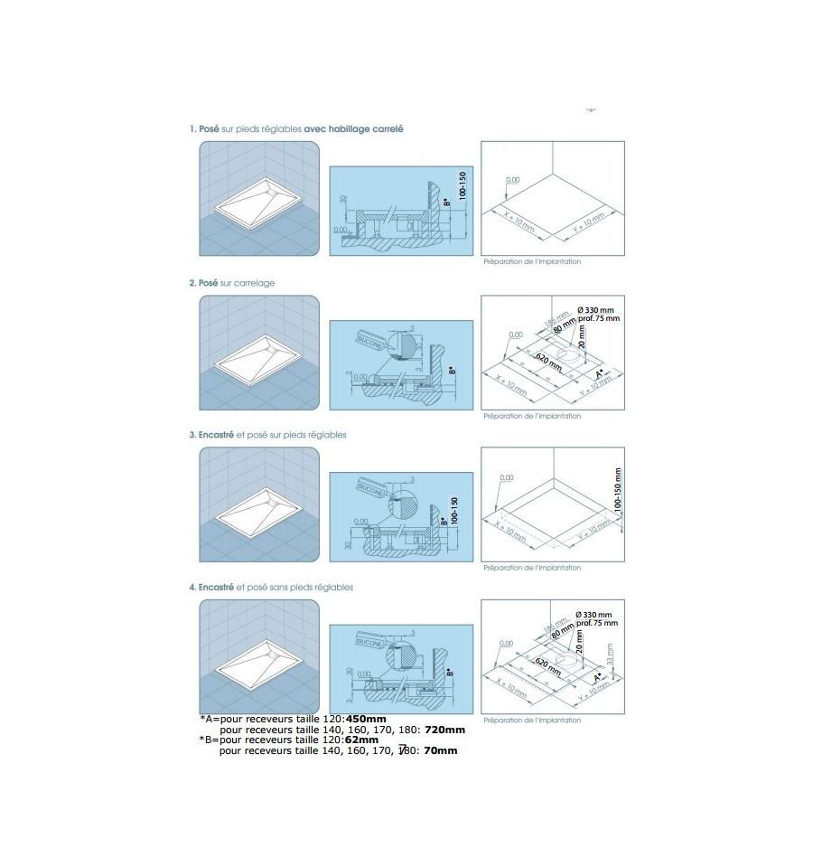 receveur douche kinesurf 180x90 extraplat par kinedo prix pas cher. Black Bedroom Furniture Sets. Home Design Ideas