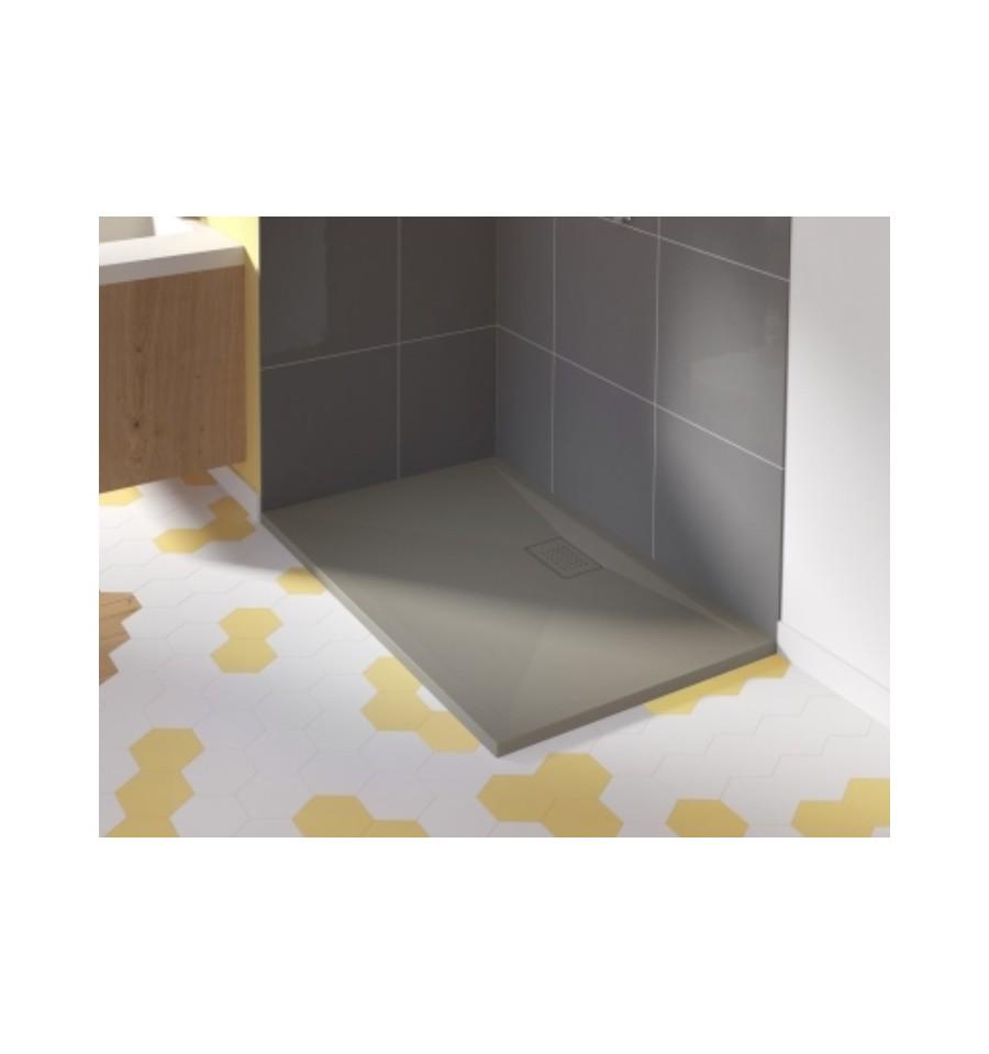 Receveur douche kinesurf 120x70 color extraplat par kinedo prix pas cher - Quelle bonde pour receveur extra plat ...