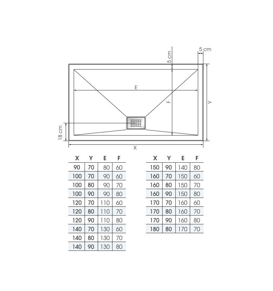 receveur douche kinesurf 120x80 color extraplat par. Black Bedroom Furniture Sets. Home Design Ideas